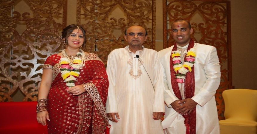 Groom And Bride With Priest Priest Yogesh Joshi